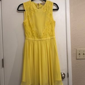 ted baker size one yellow dress